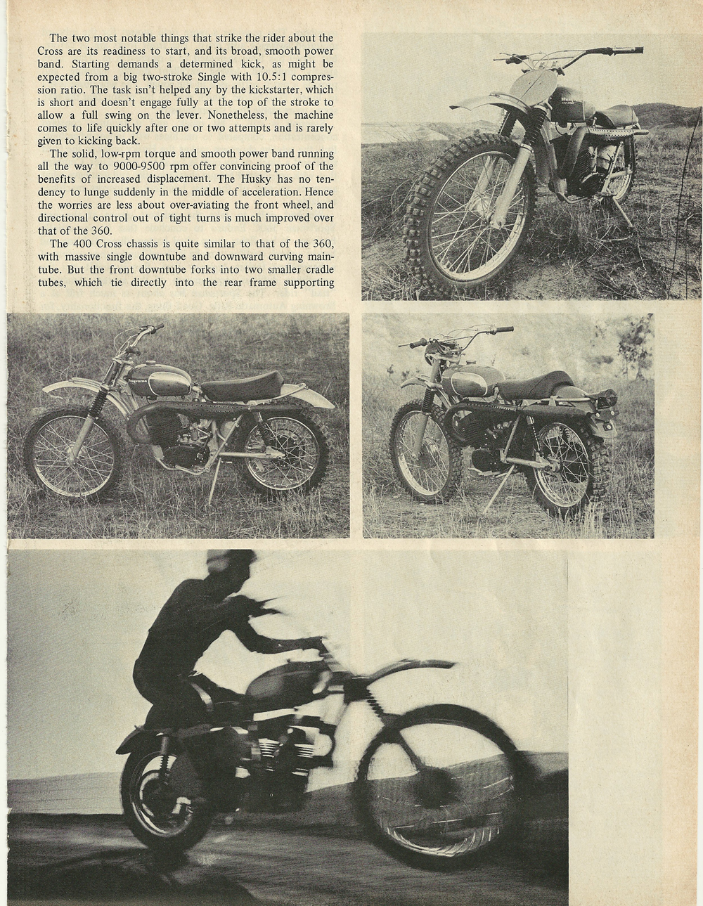 1969 Husqvarna 400 Cross and Sportsman 360C Enduro road test 4.jpg