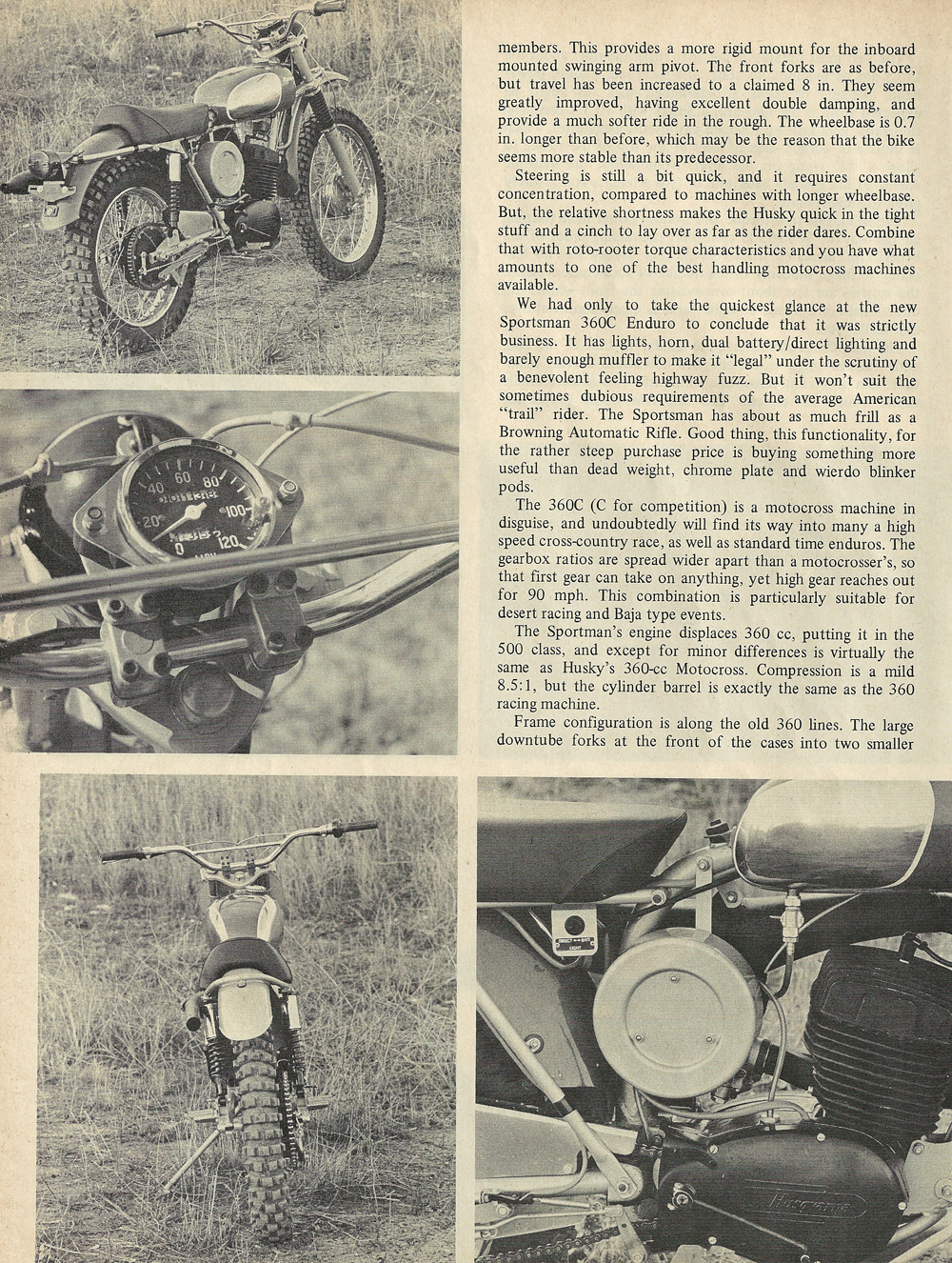 1969 Husqvarna 400 Cross and Sportsman 360C Enduro road test 5.jpg