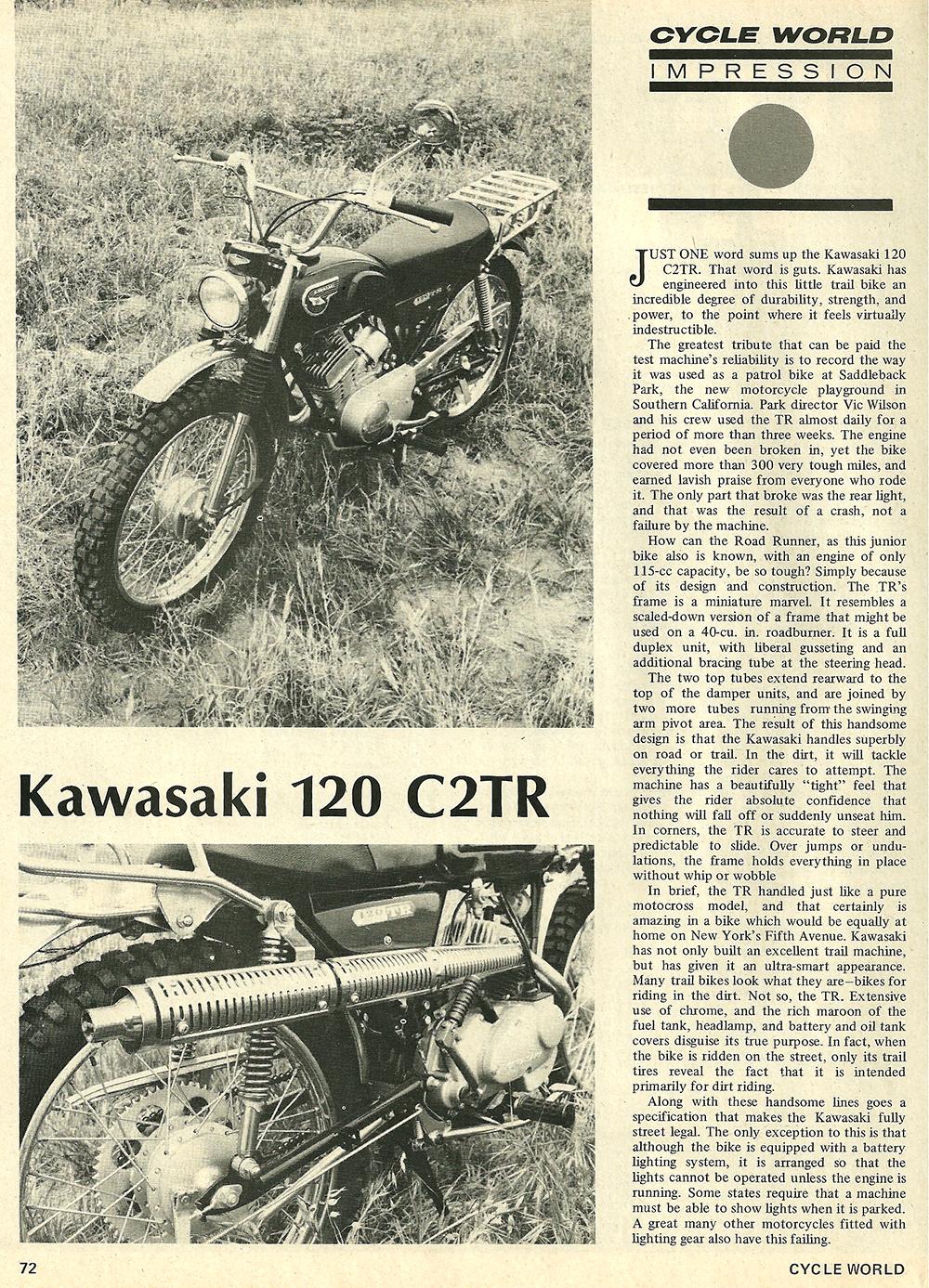 1968 Kawasaki 120 C2TR road test 01.jpg