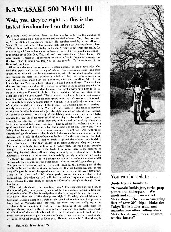 1970 Kawasaki 500 Mach 3 road test 1.jpg