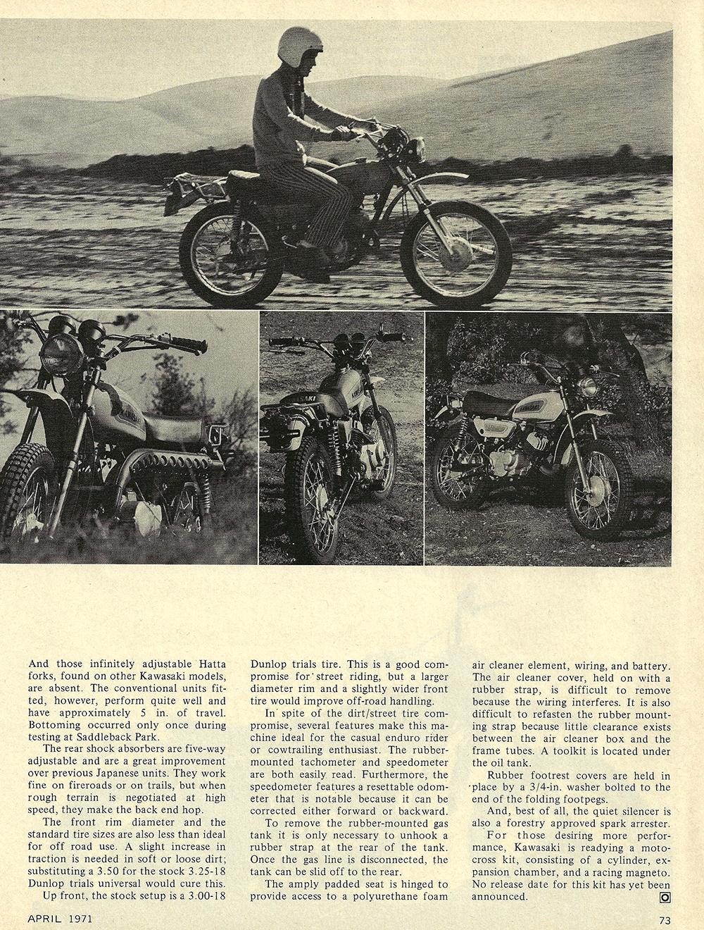 1971 Kawasaki 125 Enduro short test 02.jpg