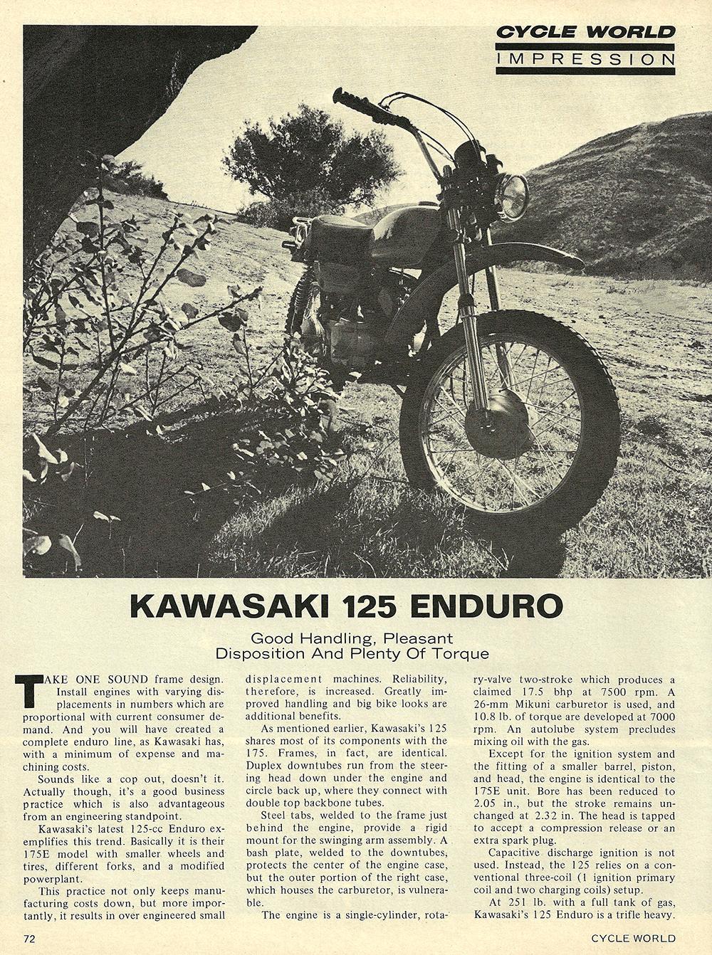 1971 Kawasaki 125 Enduro short test 01.jpg