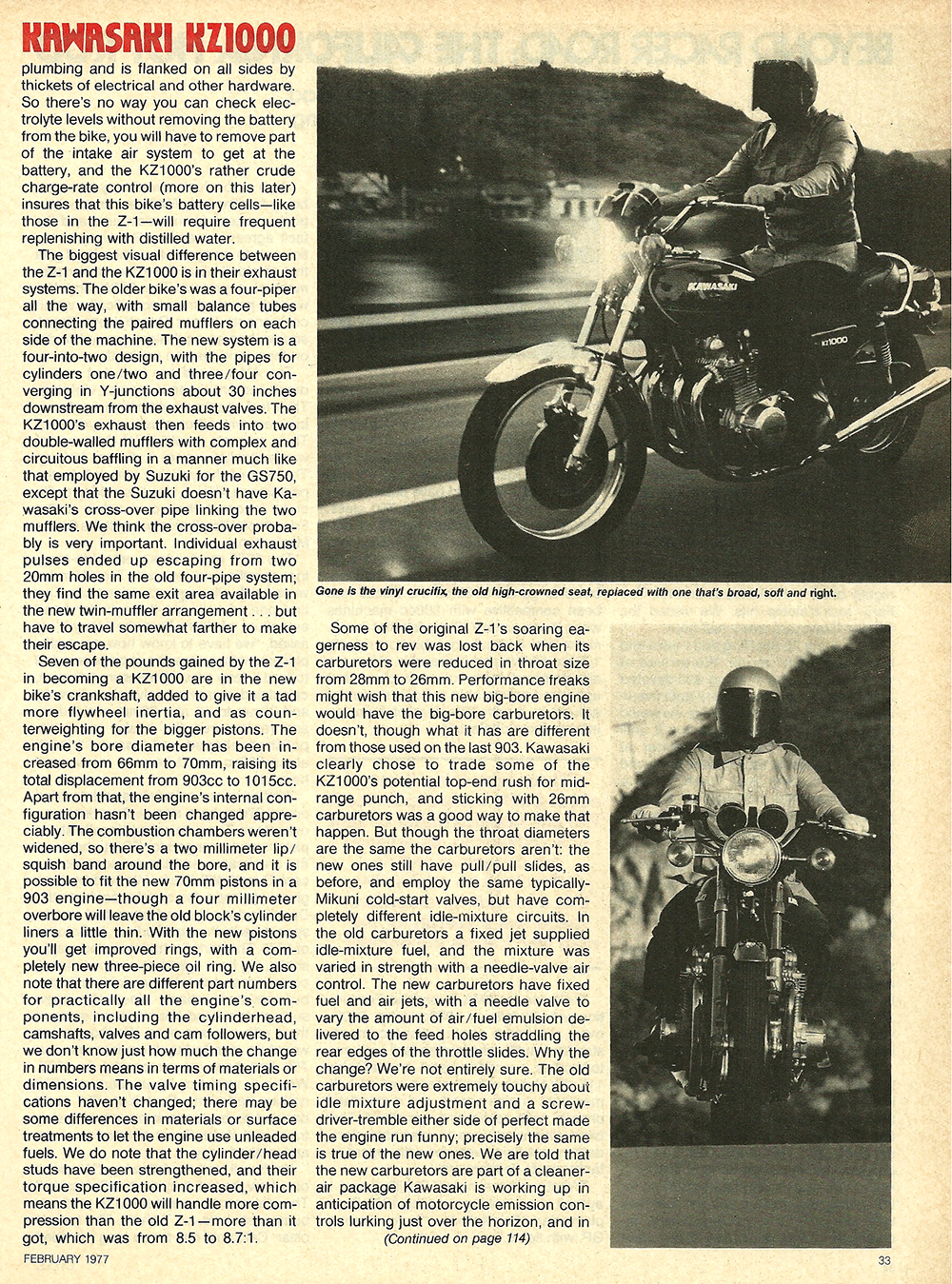 1977 Kawasaki KZ1000 road test 6.jpg