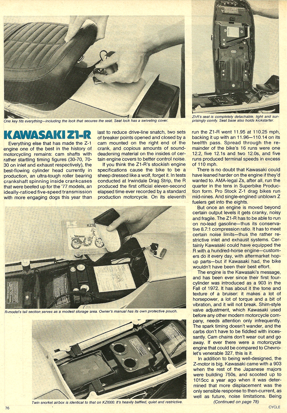 1977 Kawasaki Z1R road test 07.jpg