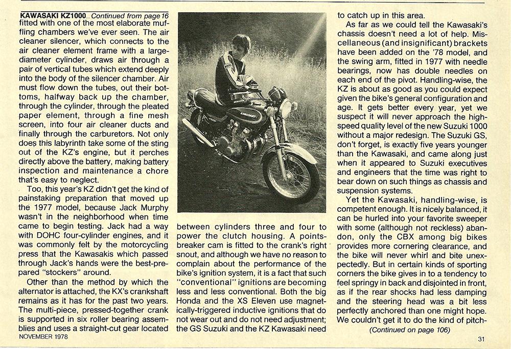 1978 Kawasaki KZ1000 road test 06.jpg