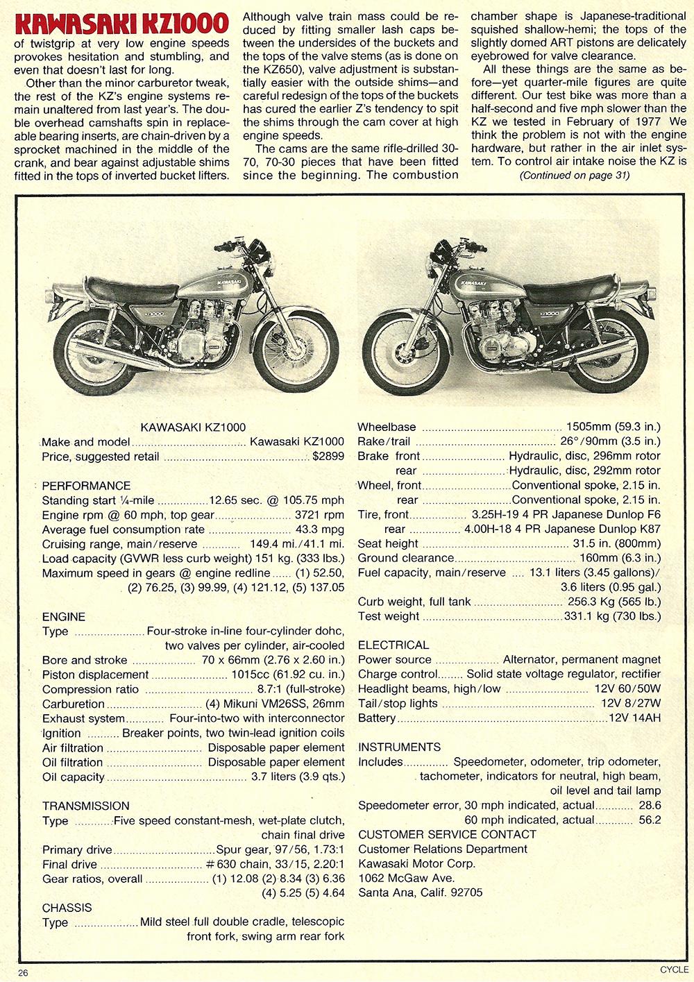 1978 Kawasaki KZ1000 road test 05.jpg