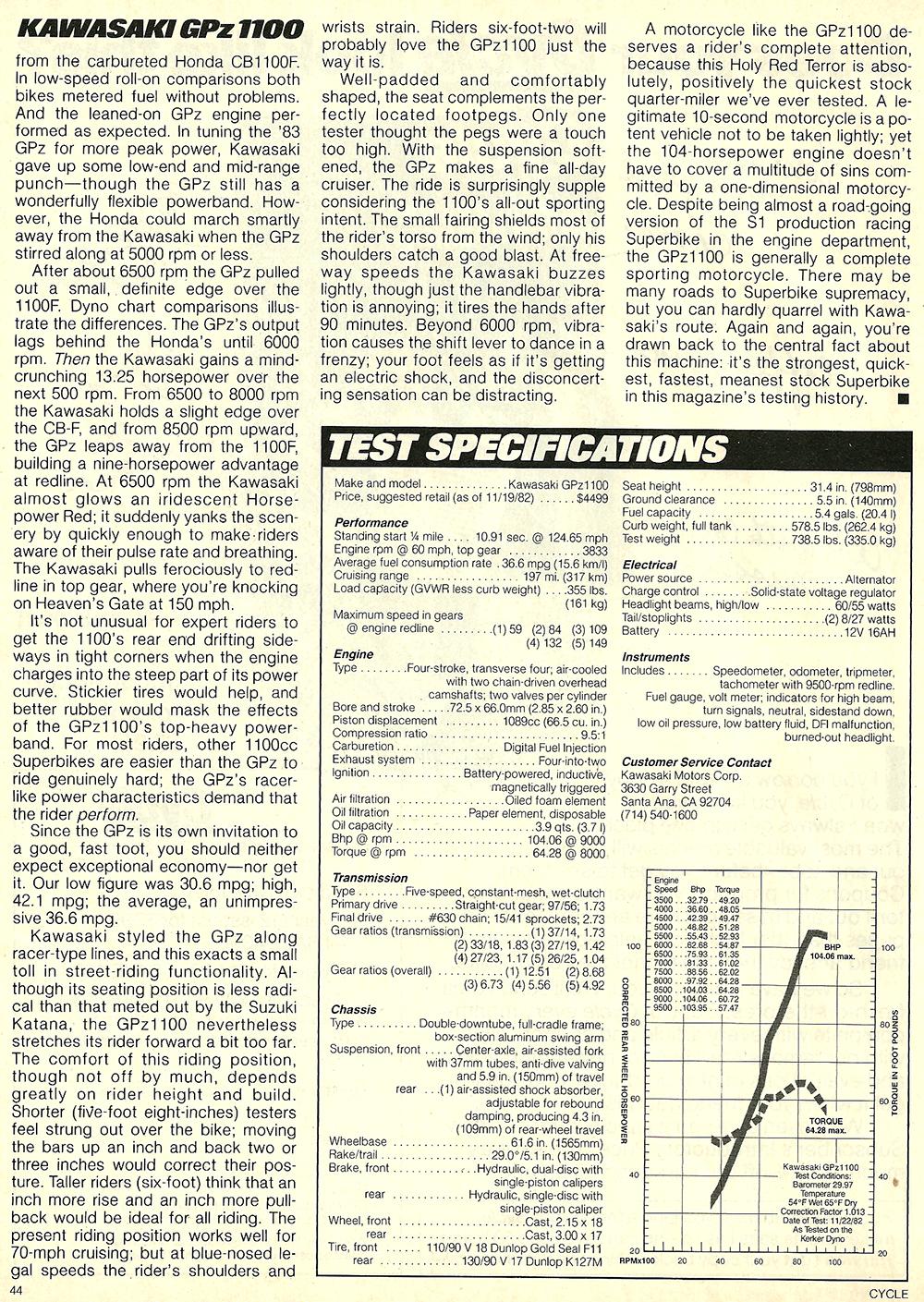 1983 Kawasaki GPz1100 road test 8.jpg
