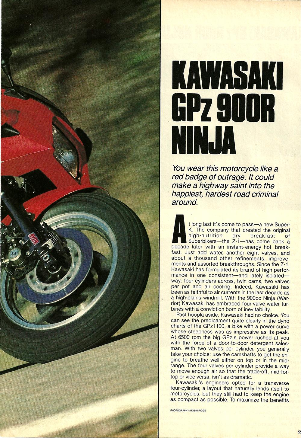 1984 Kawasaki GPz 900R Ninja road test 02.jpg
