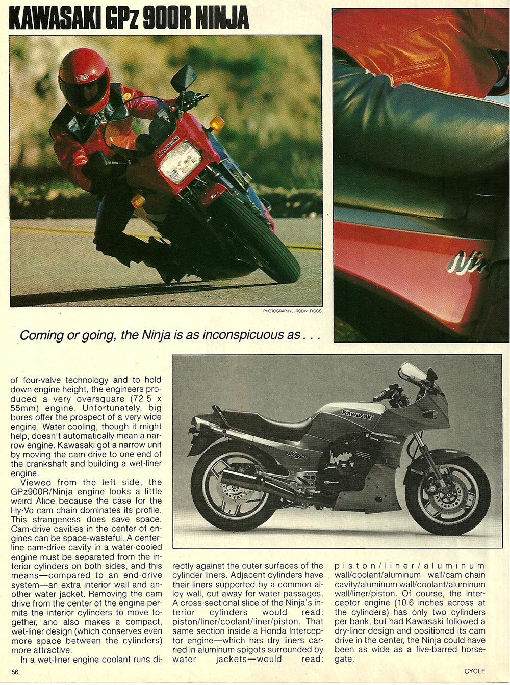 1984 Kawasaki GPz 900R Ninja road test 03.jpg
