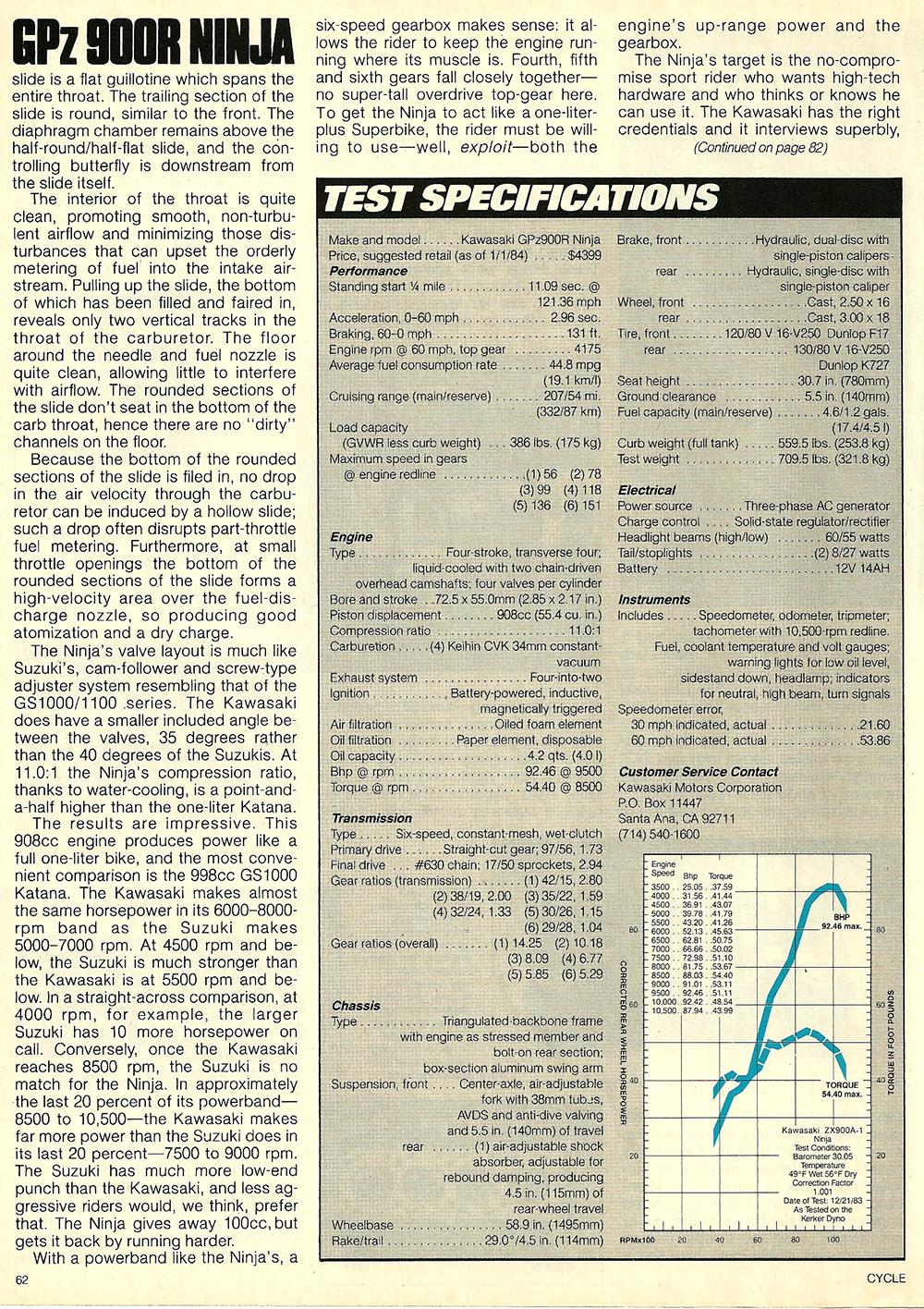 1984 Kawasaki GPz 900R Ninja road test 08.jpg