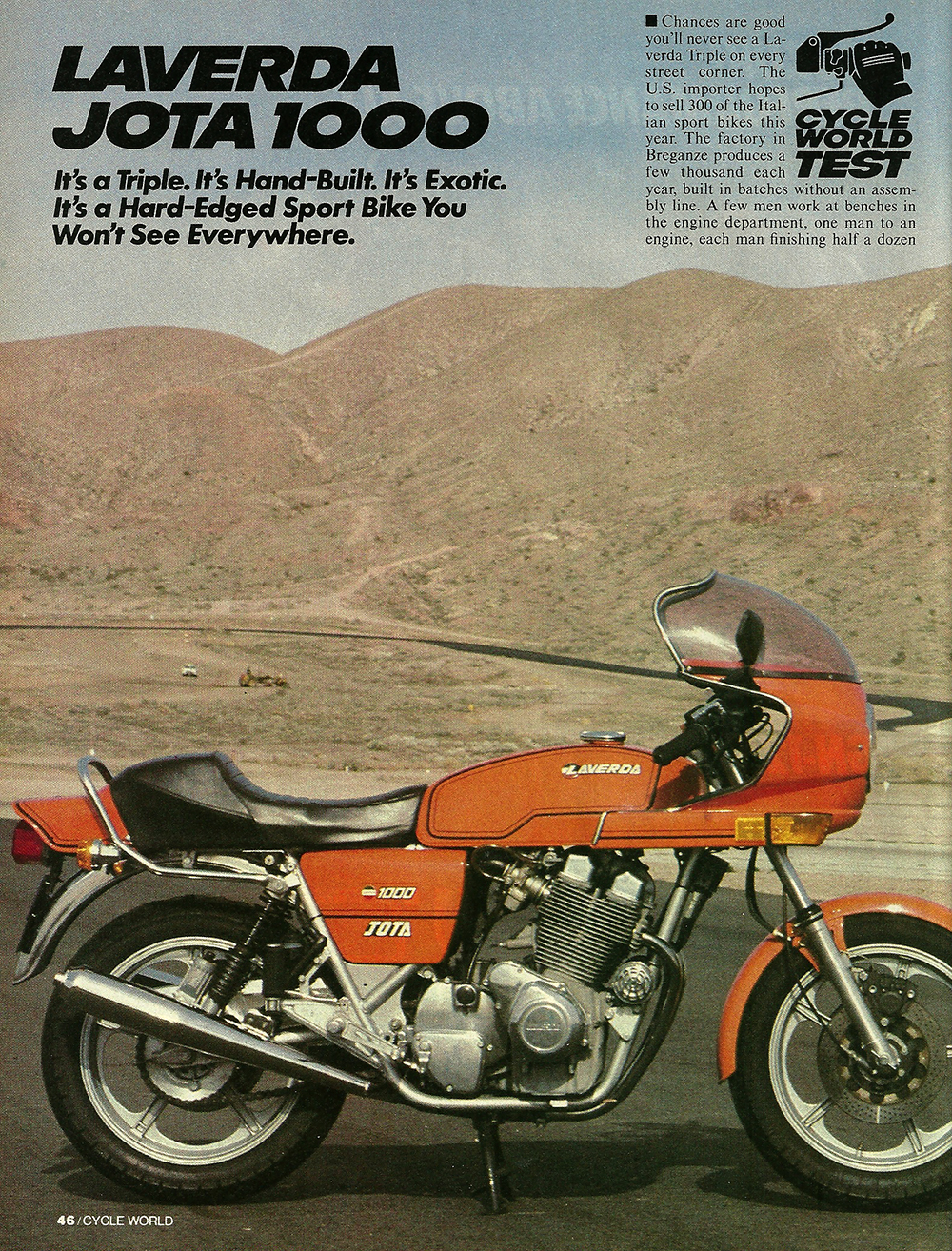 1982 laverda jota 1000 road test ye olde cycle shoppe rh yeoldecycleshoppe com