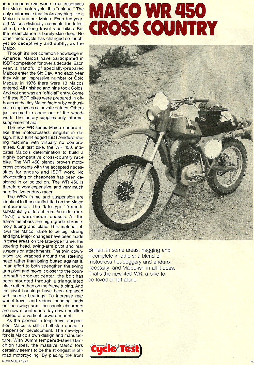 1977 Maico WR450 Cross Country XC road test 2.jpg