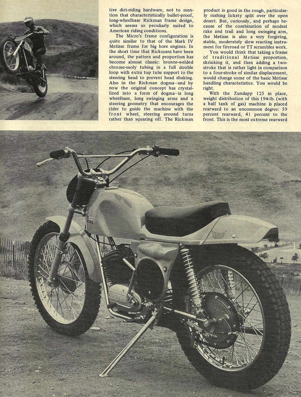 1970 Rickman Micro 125 Metisse road test 02.jpg