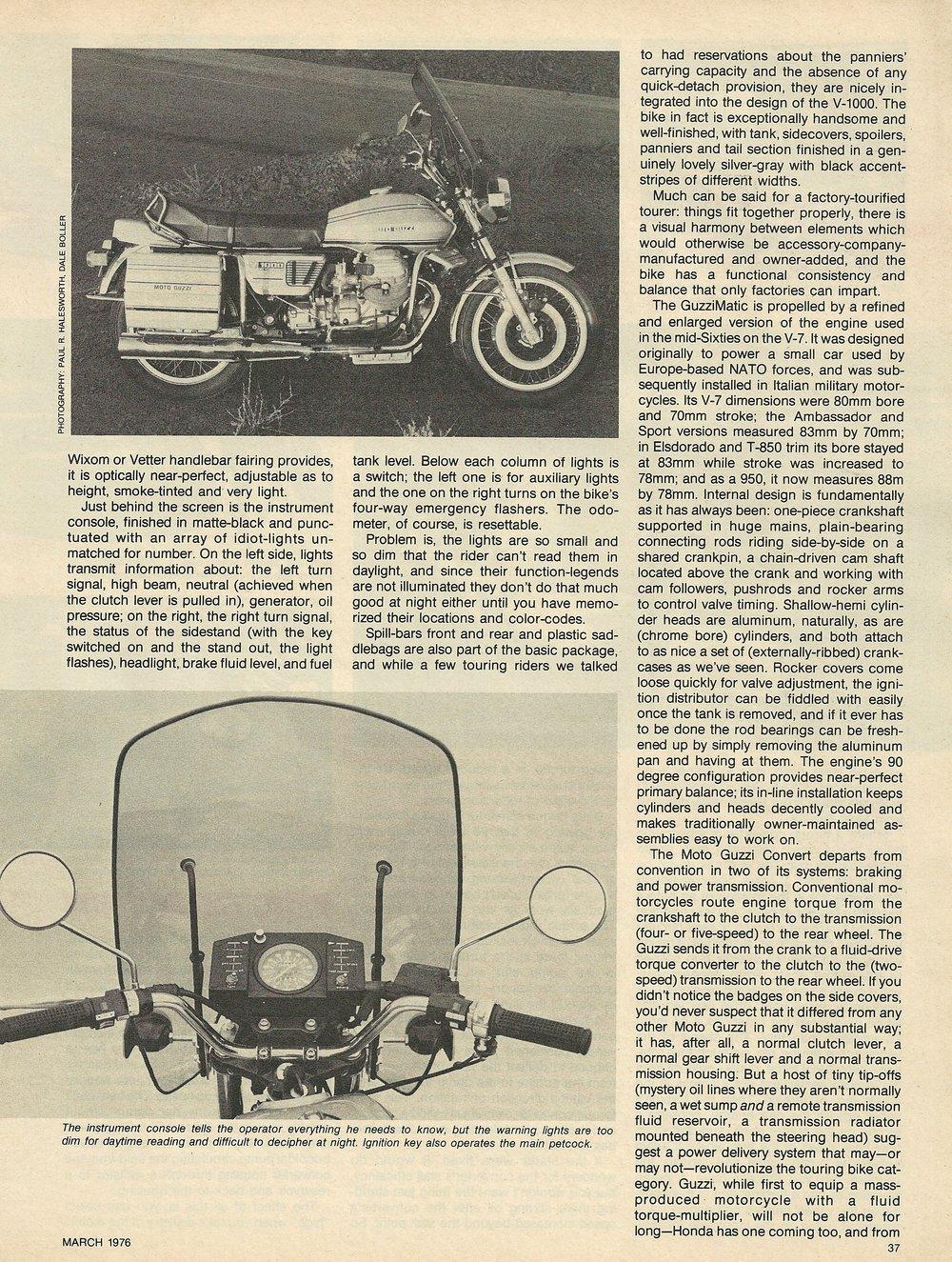 1976 Moto Guzzi V1000 Convert road test 2.JPG