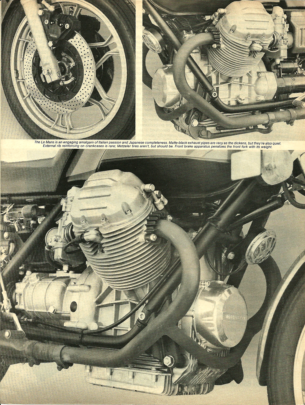 1977 Moto Guzzi 850 LeMans road test 04.jpg