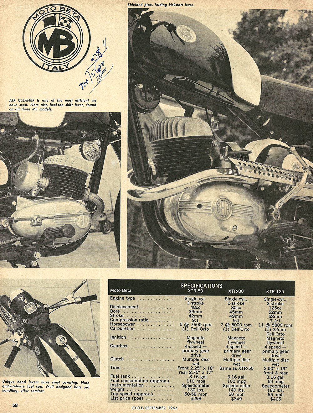 1966 Moto Beta 50cc 80cc 125cc road test 3.JPG