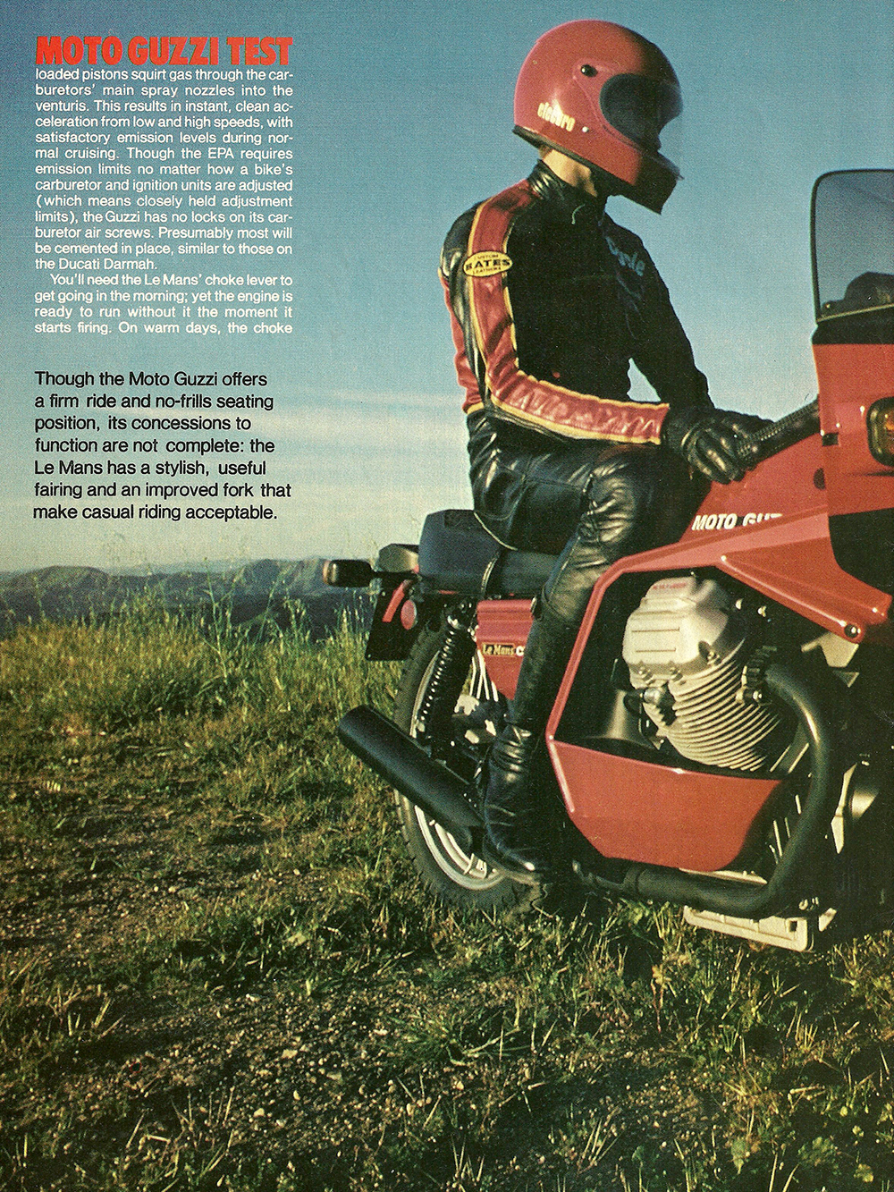 1980 Moto Guzzi Lemans CX100 road test 03.jpg