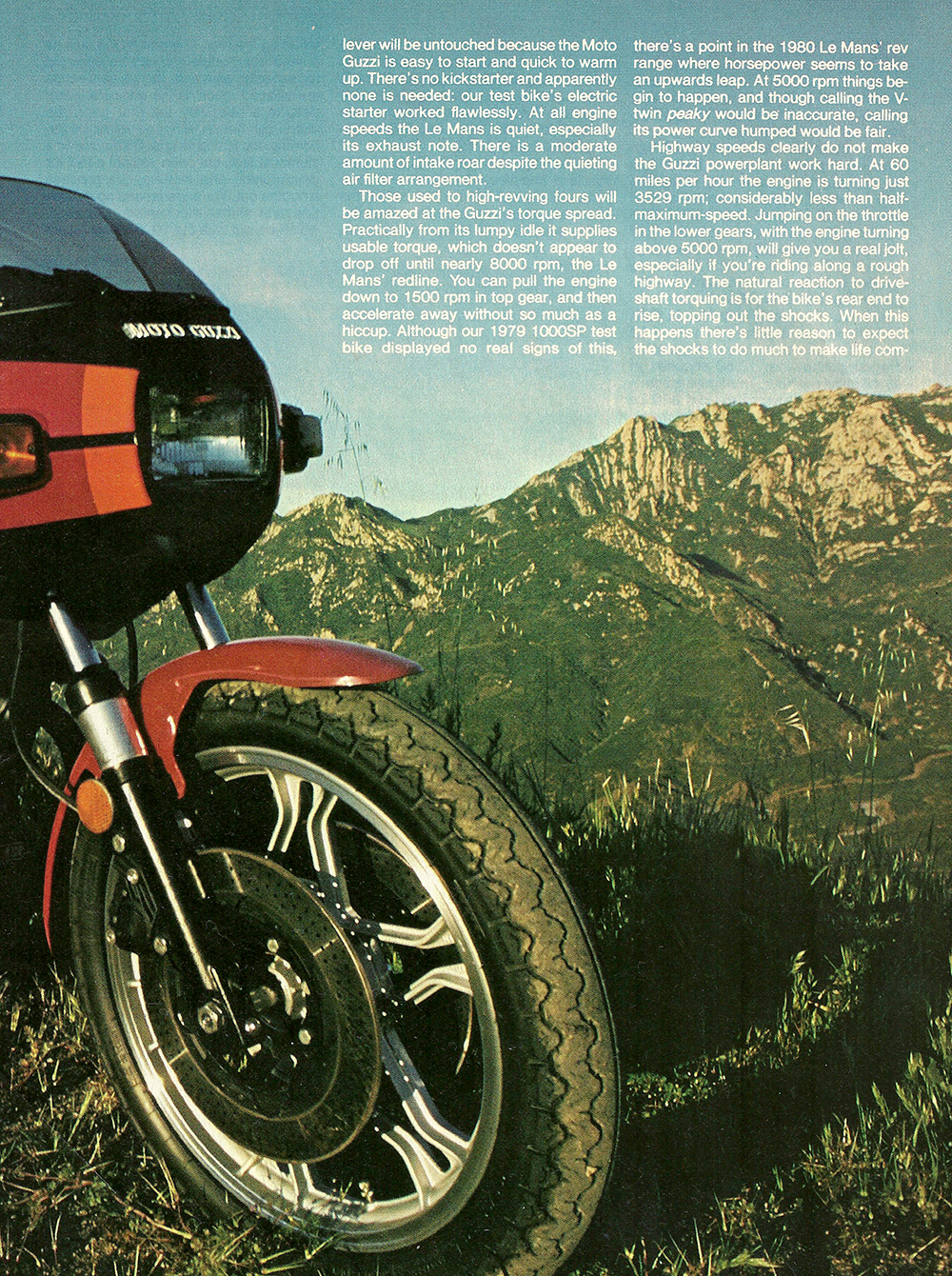 1980 Moto Guzzi Lemans CX100 road test 04.jpg