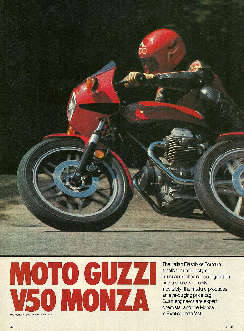 1981 Moto Guzzi V50 Monza road test 01.jpg