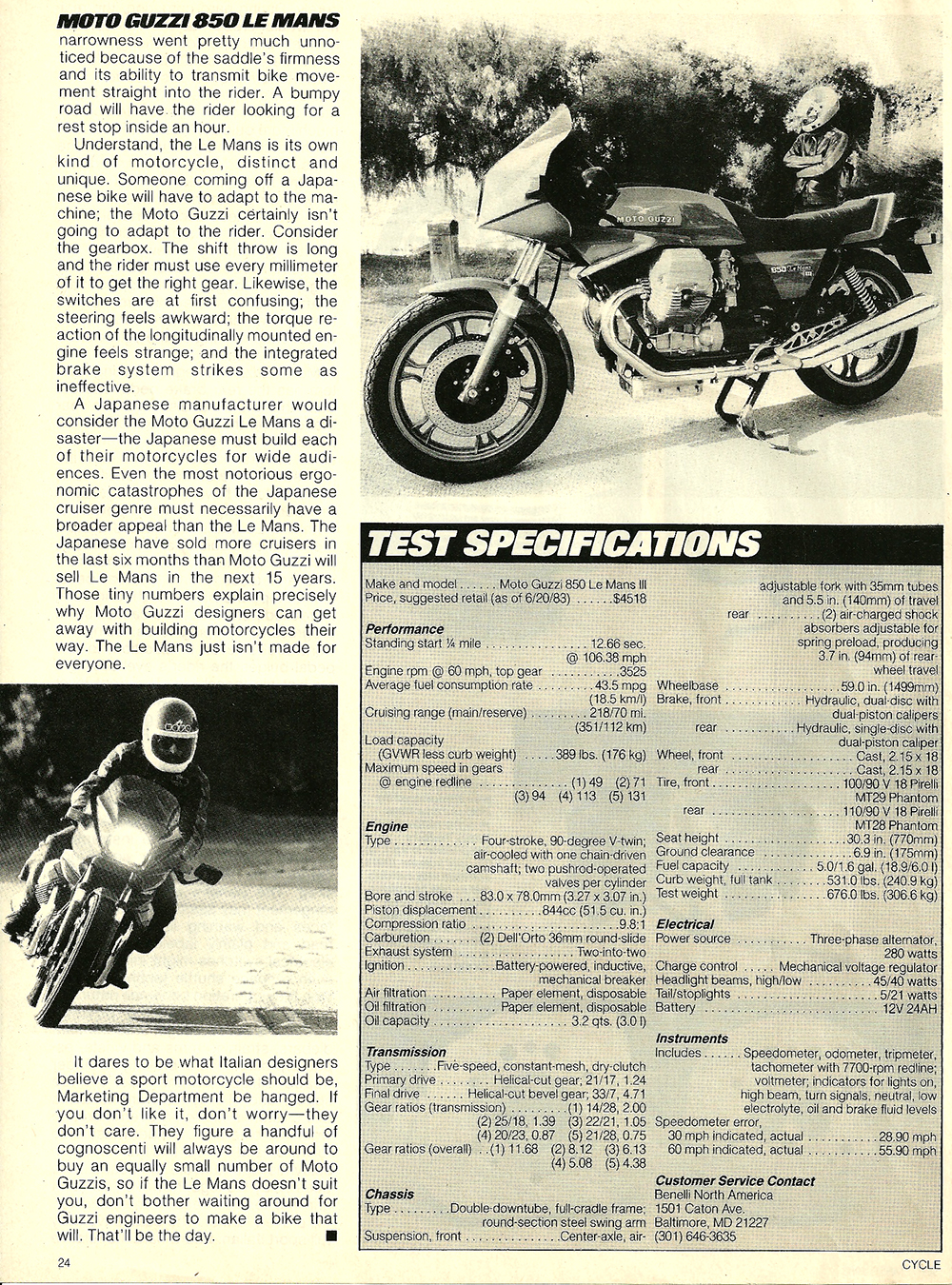 1983 Moto Guzzi 850 Lemans 3 road test 7.jpg