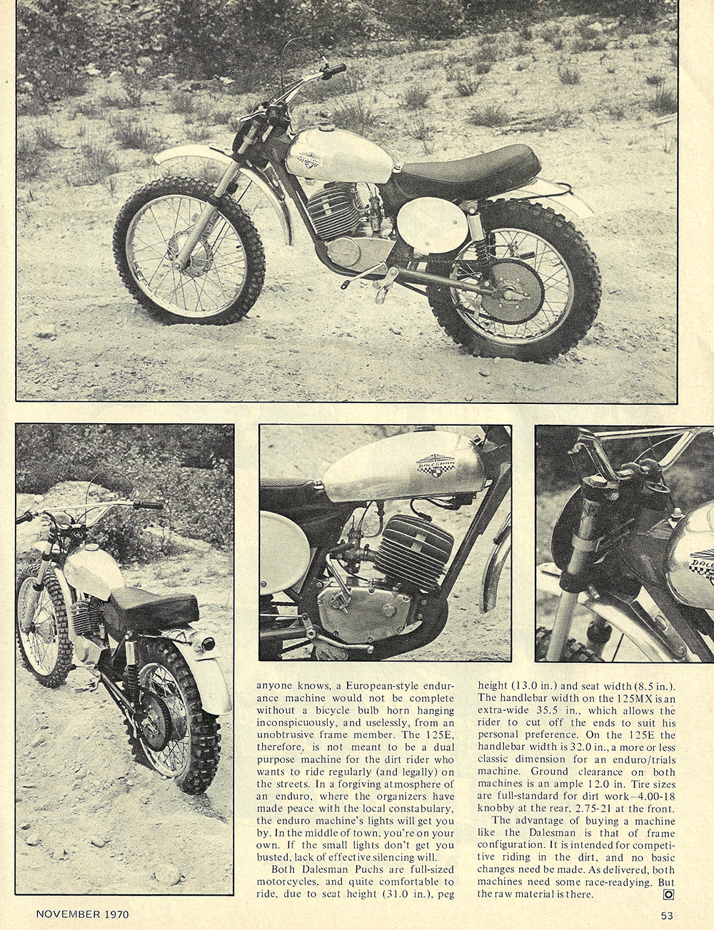 1970 Dalesman Puch 125 MX 125 E road test 02.jpg