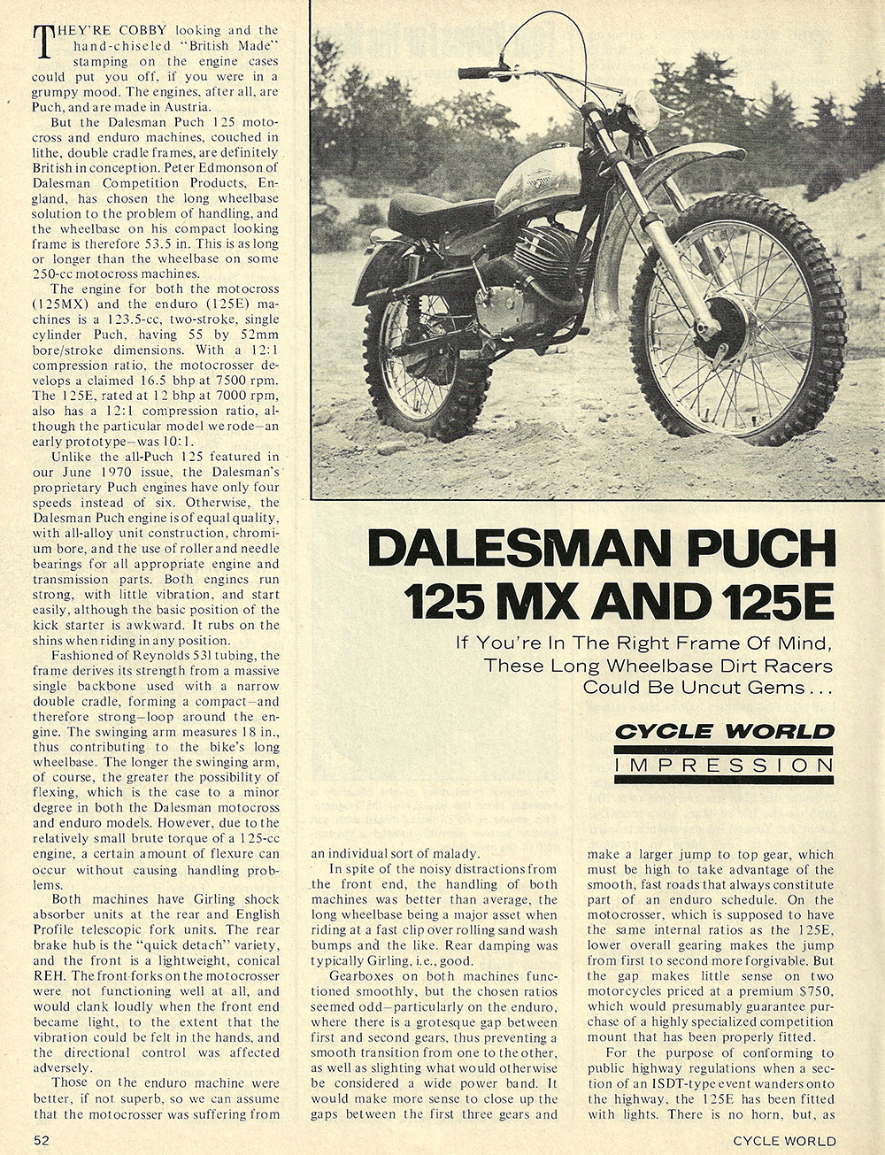 1970 Dalesman Puch 125 MX 125 E road test 01.jpg