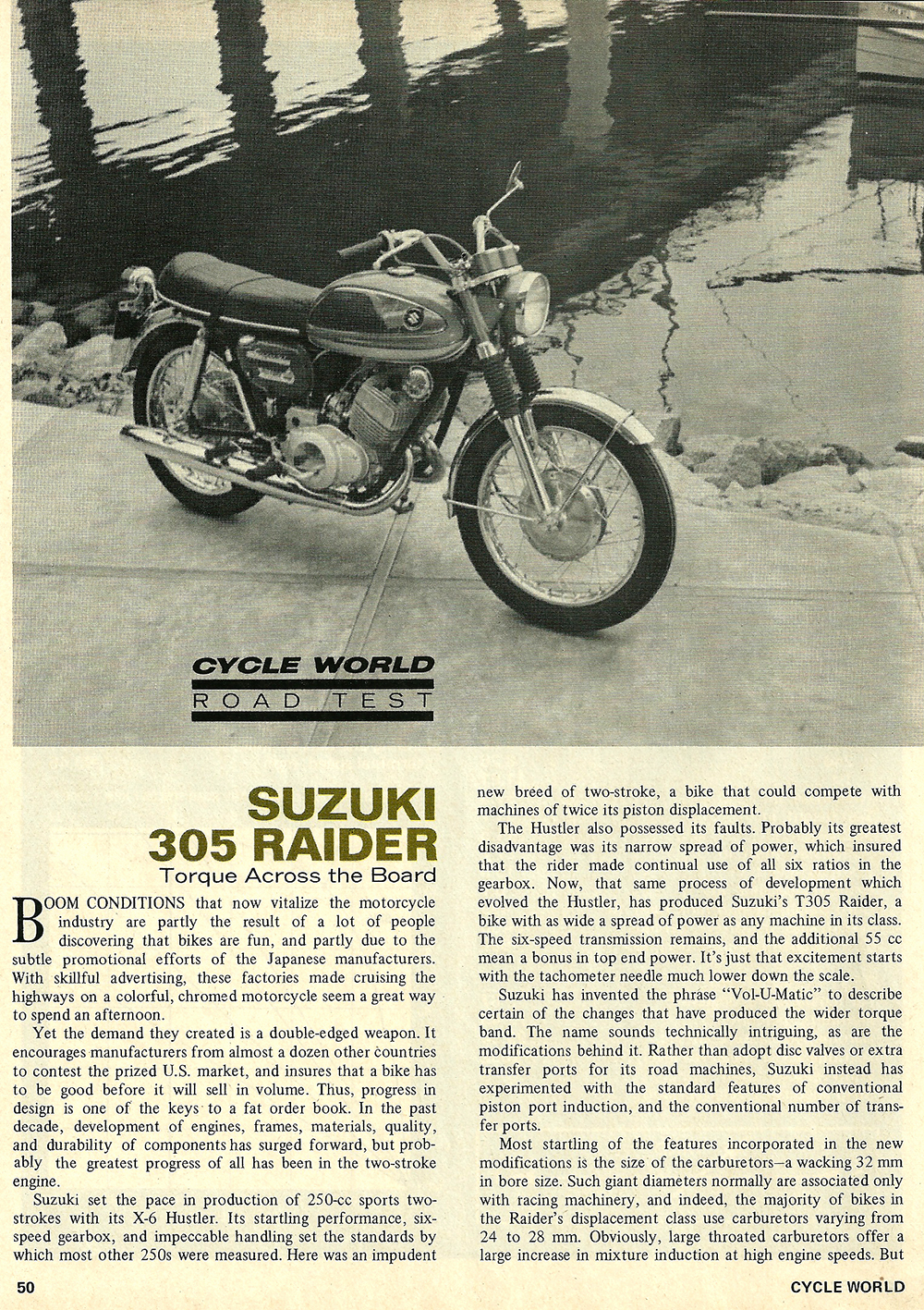 1968 Suzuki 305 Raider road test 01.jpg