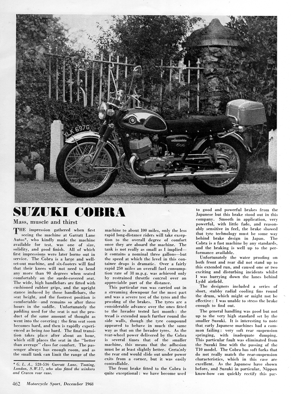 1969 Suzuki Cobra road test 1.jpg