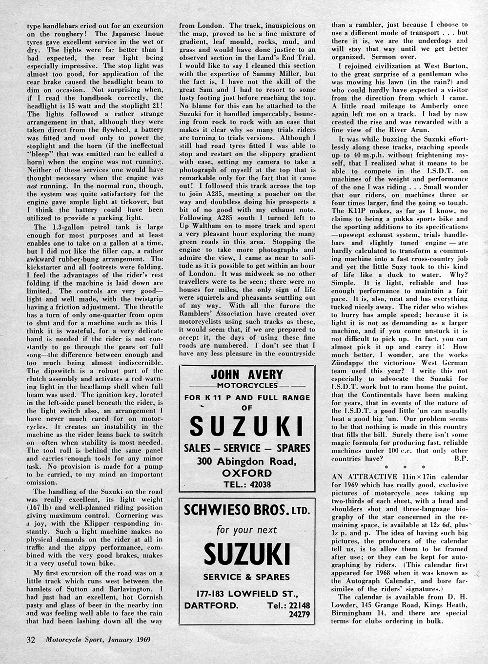 1969 Suzuki Klipper road test 3.jpg