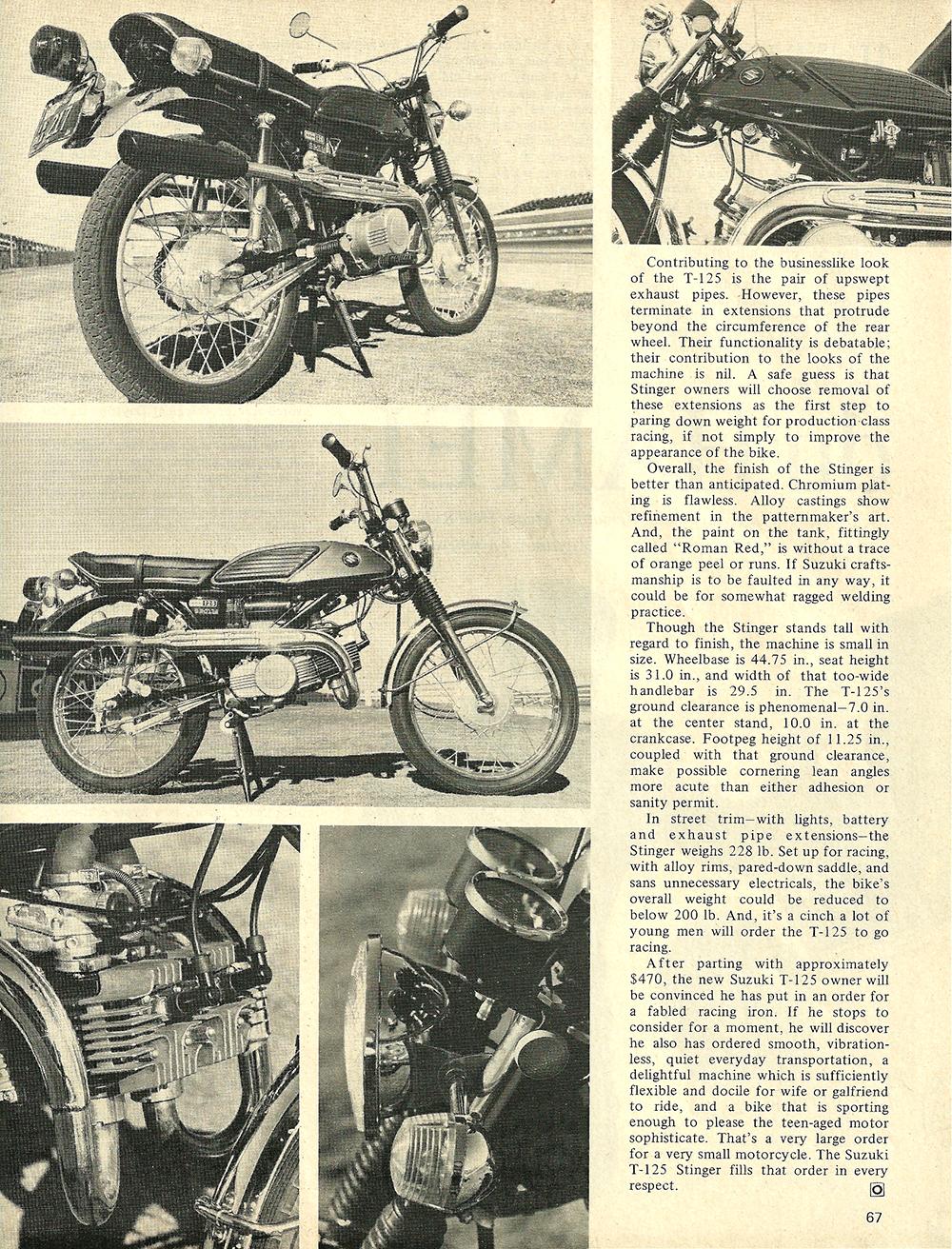 1969 Suzuki t125 stinger test 02.jpg