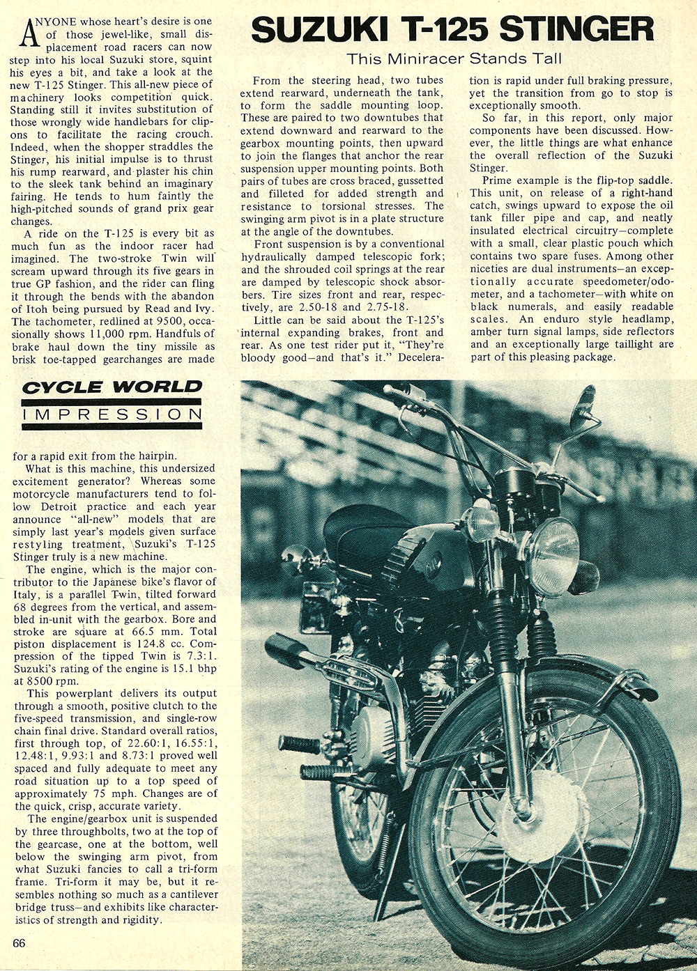 1969 Suzuki t125 stinger test 01.jpg