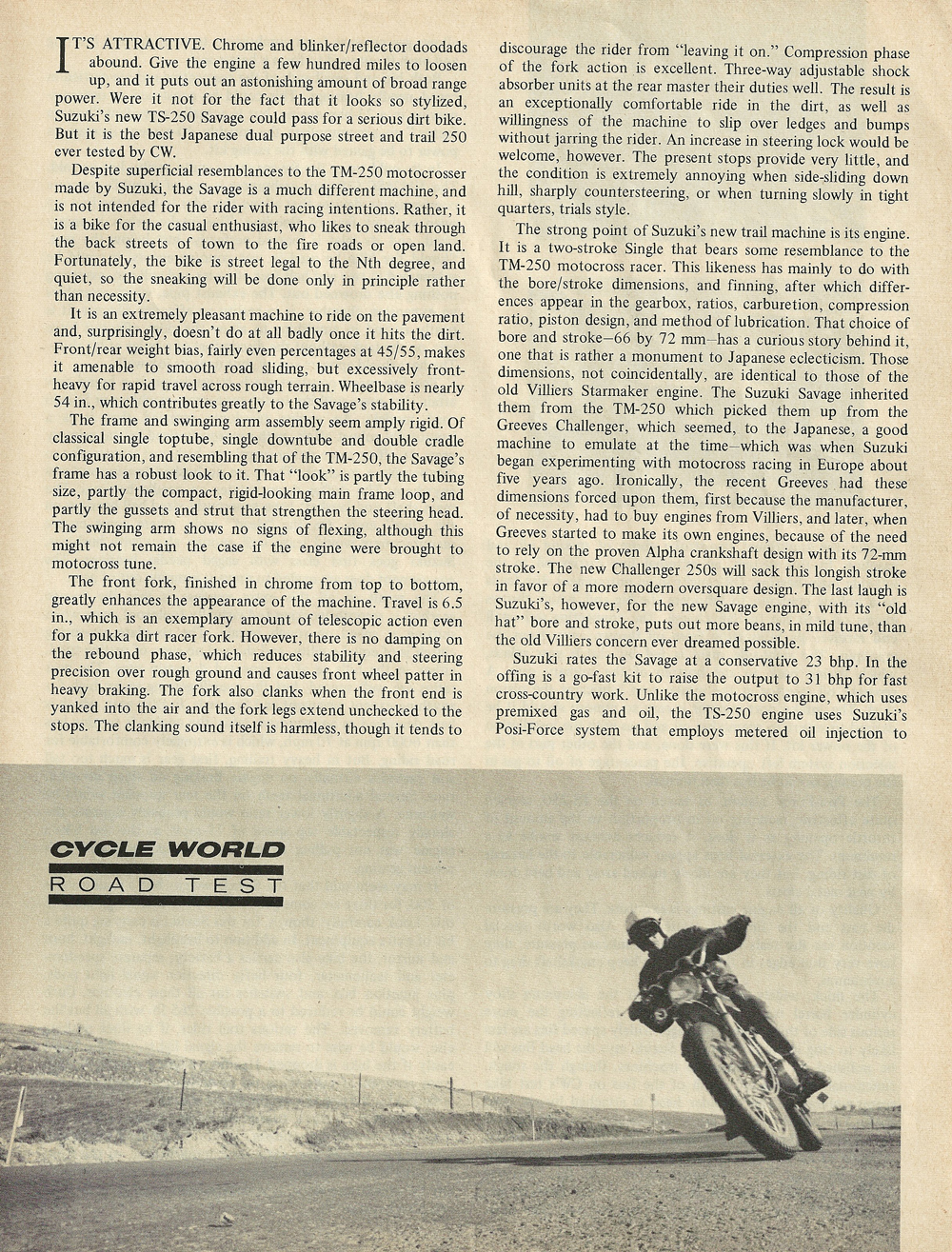 1969 Suzuki TS-250 Savage road test 2.jpg