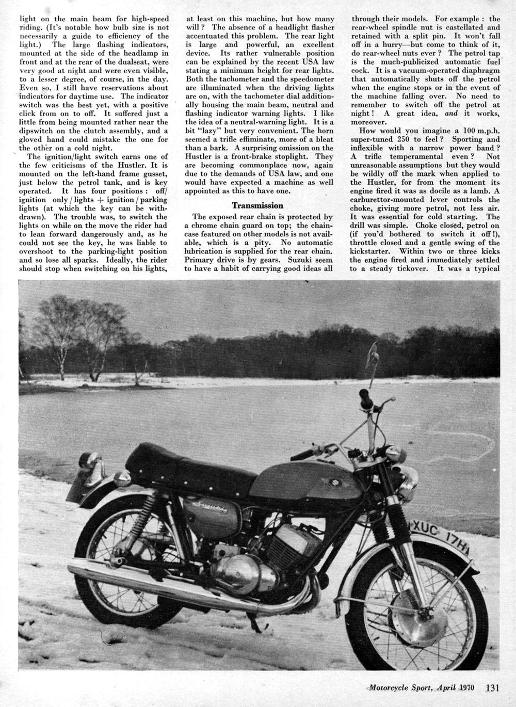 1970 suzuki hustler 250 road test — ye olde cycle shoppe