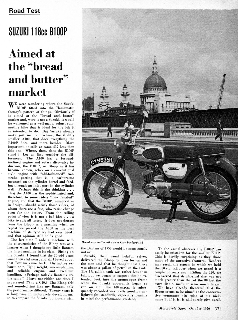 1970 Suzuki B100P road test 1.jpg