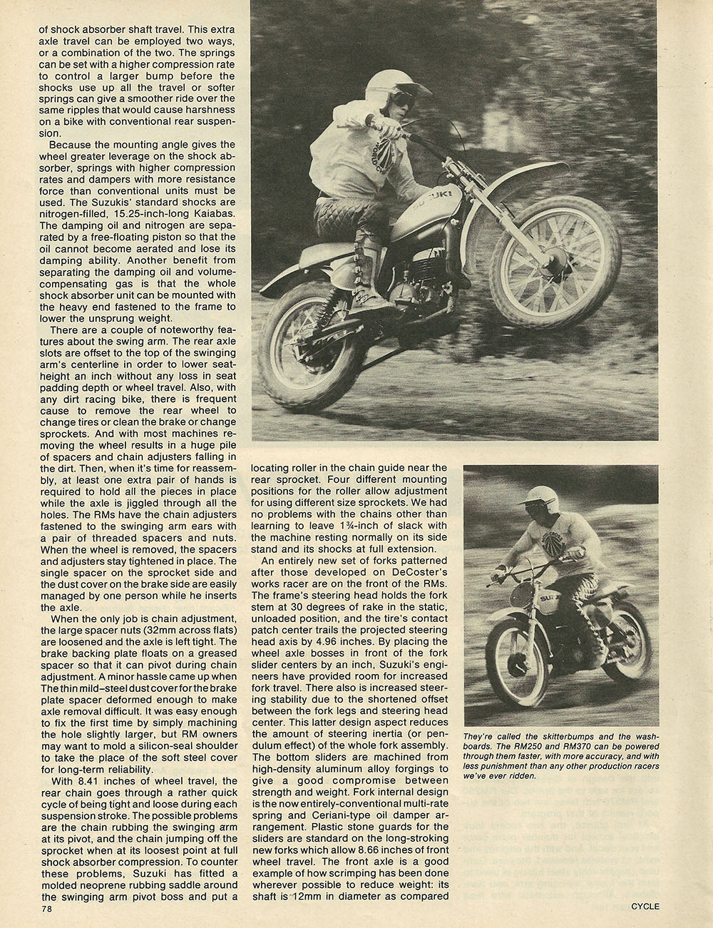 1975 Suzuki RM250 and RM370 off road test 2.JPG