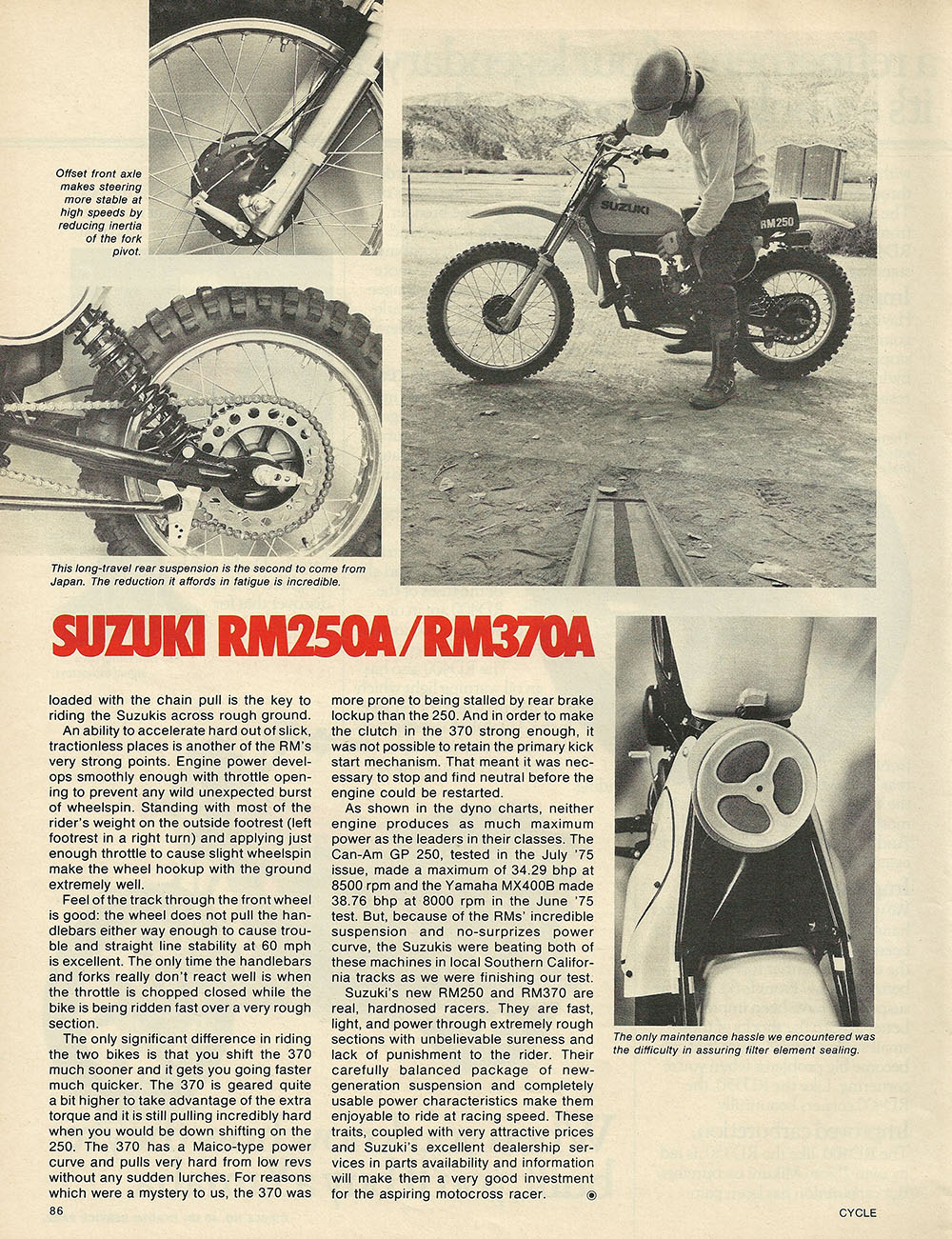 1975 Suzuki RM250 and RM370 off road test 7.JPG