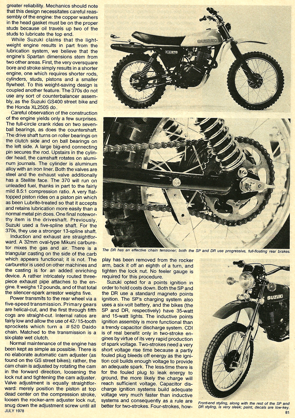 1978 Suzuki DR SP 370 road test 04.jpg