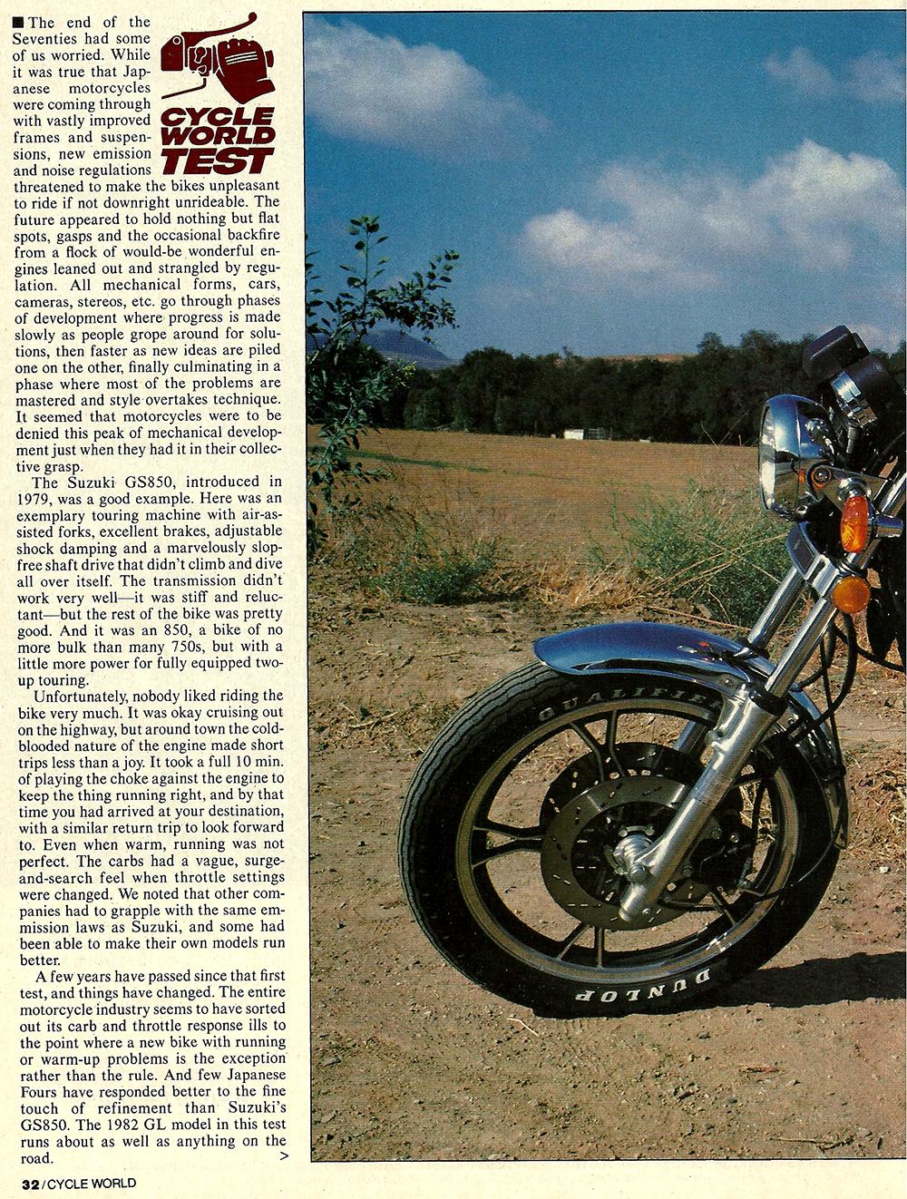 1982 Suzuki GS850GL road test 01.jpg