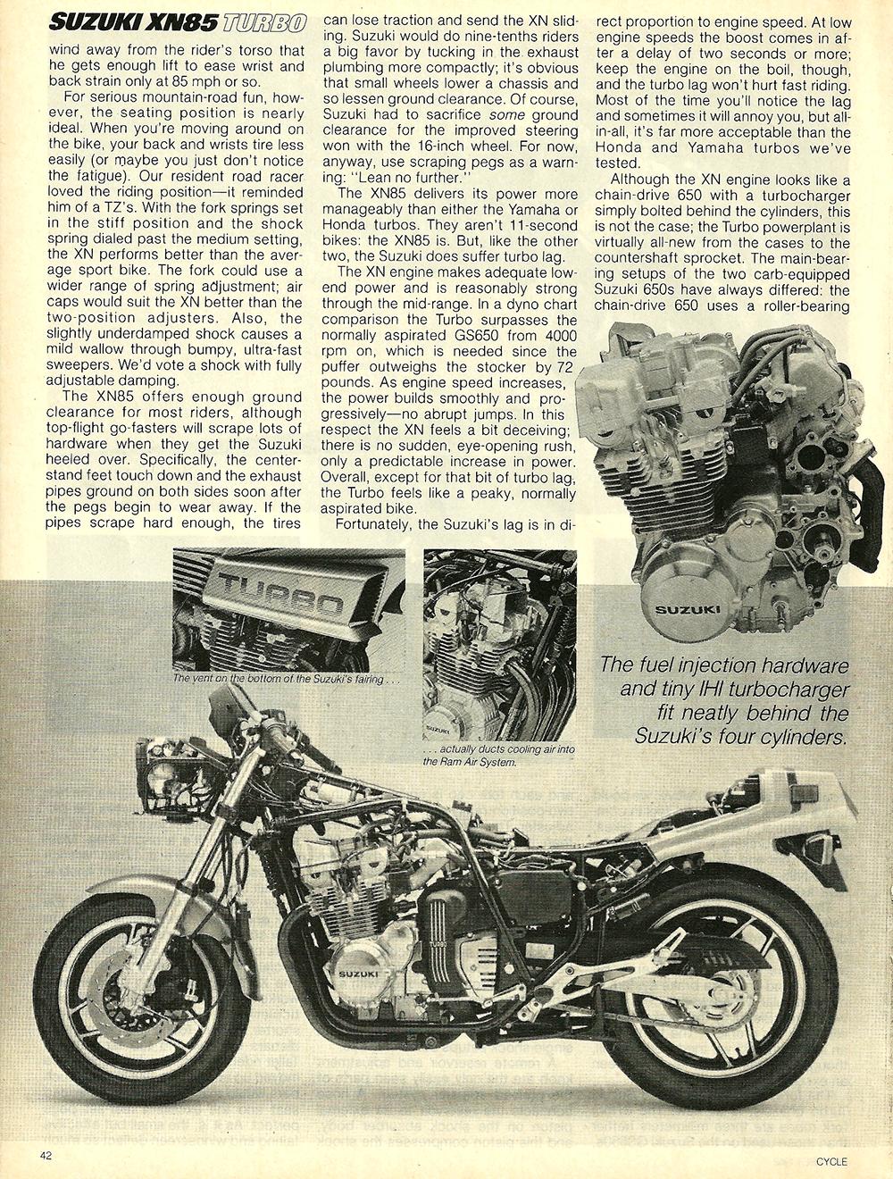 1983 Suzuki XN85 Turbo road test 5.jpg