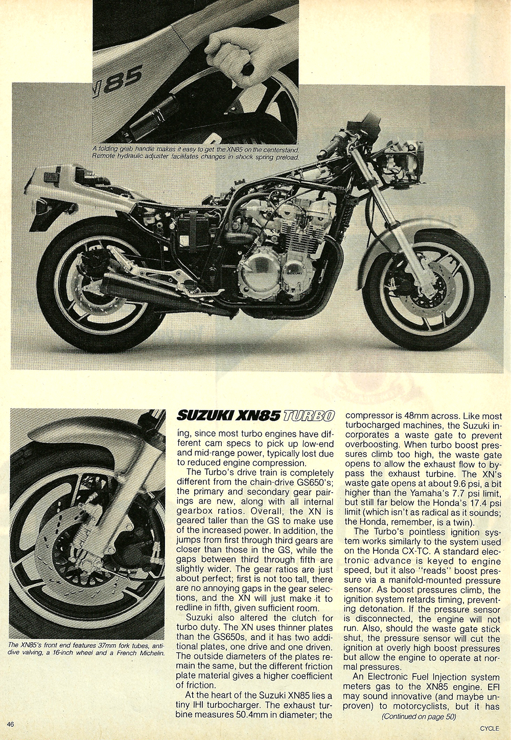 1983 Suzuki XN85 Turbo road test 7.jpg