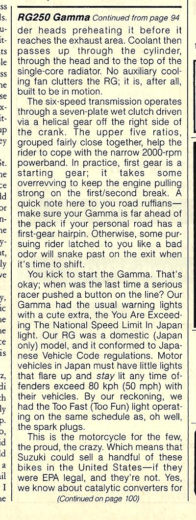1984 Suzuki RG250 Gamma road test 8.jpg