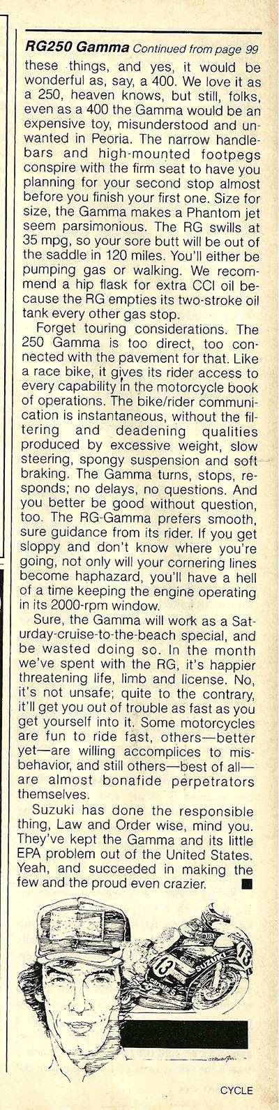 1984 Suzuki RG250 Gamma road test 9.jpg