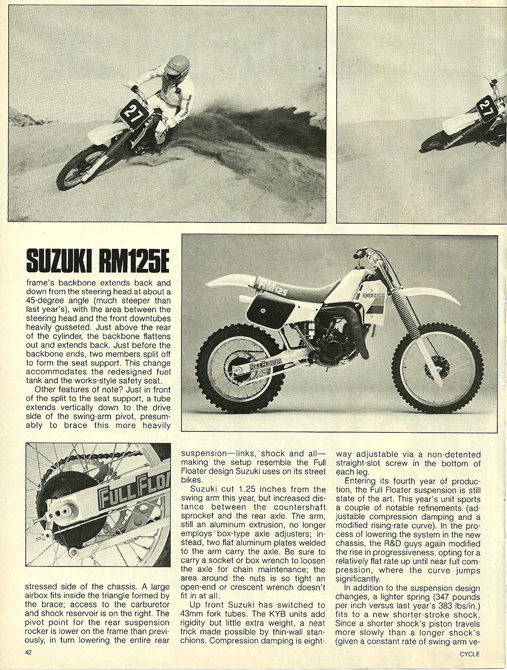 1984 Suzuki RM125E road test 3.jpg