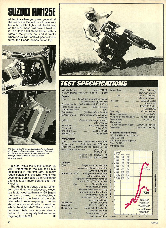 1984 Suzuki RM125E road test 7.jpg