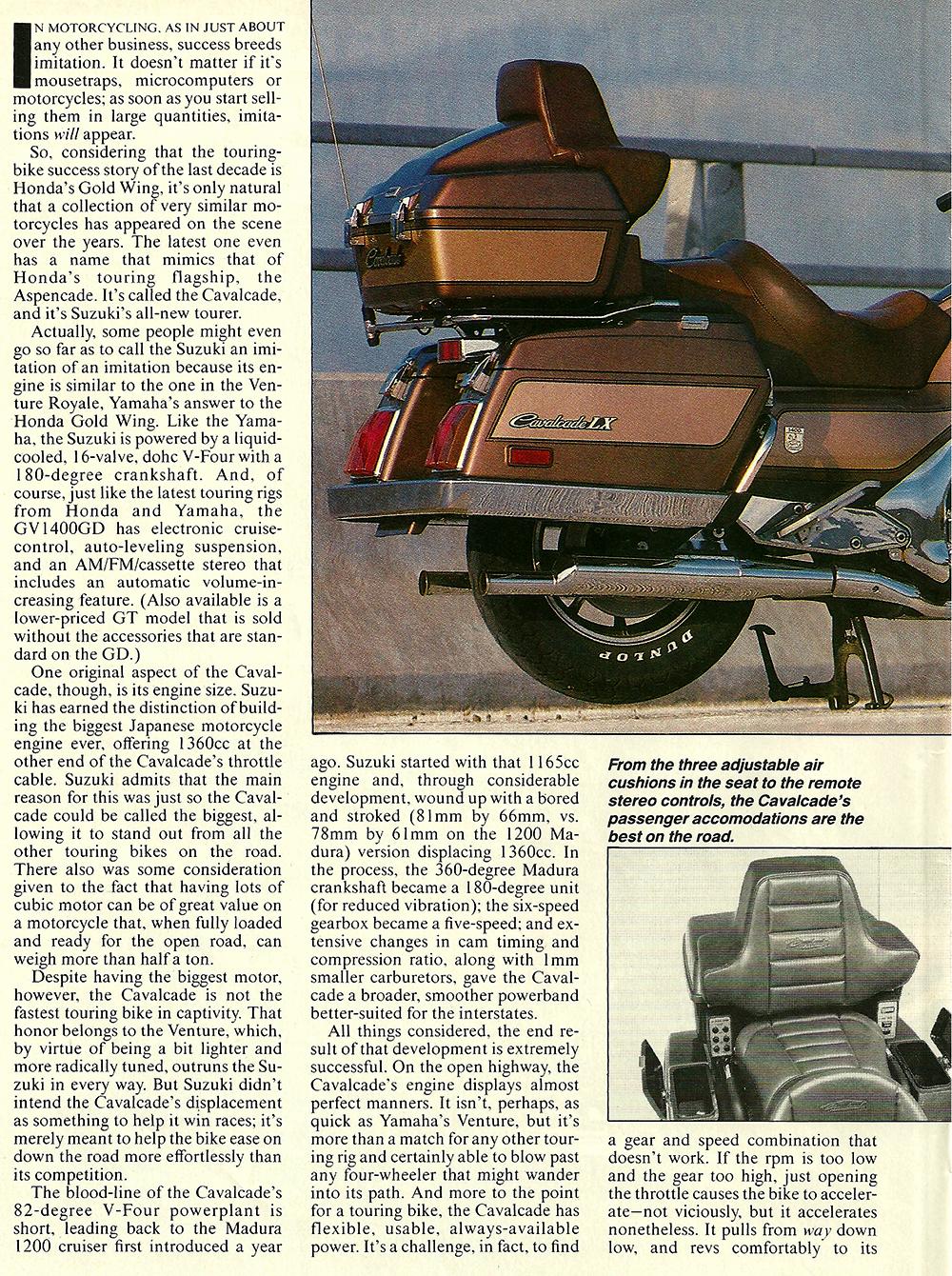 1985 Suzuki GV1400 Cavalcade road test 03.jpg