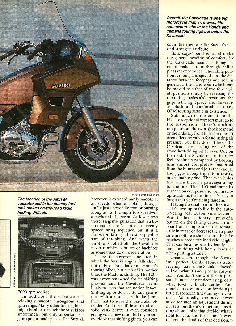 1985 Suzuki GV1400 Cavalcade road test 04.jpg