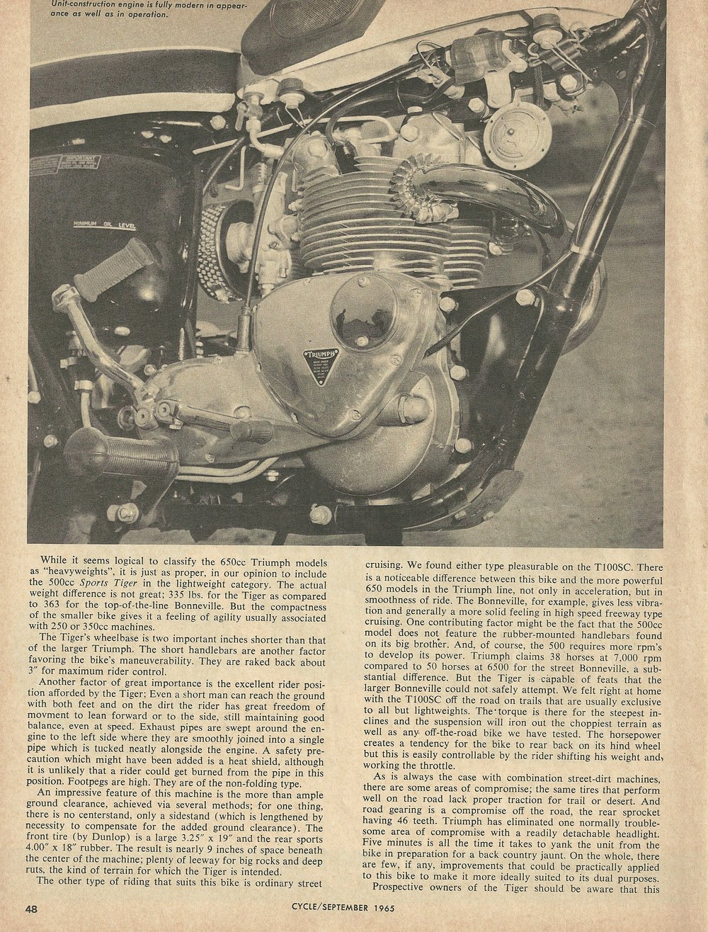 1966 Triumph Sports Tiger T100SC road test 2.JPG