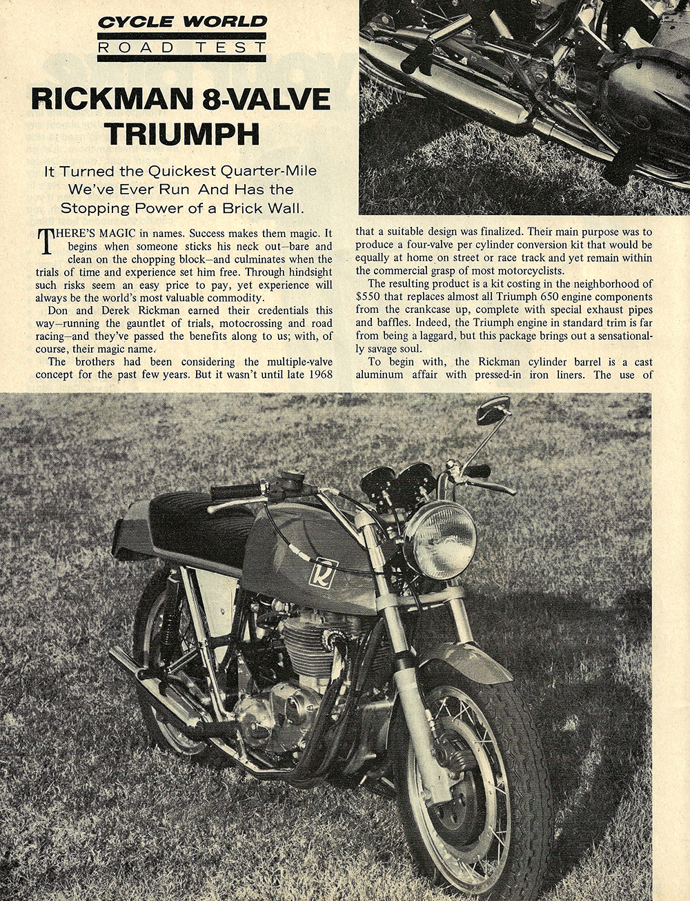 1970 Rickman 8 valve Triumph road test 01.jpg