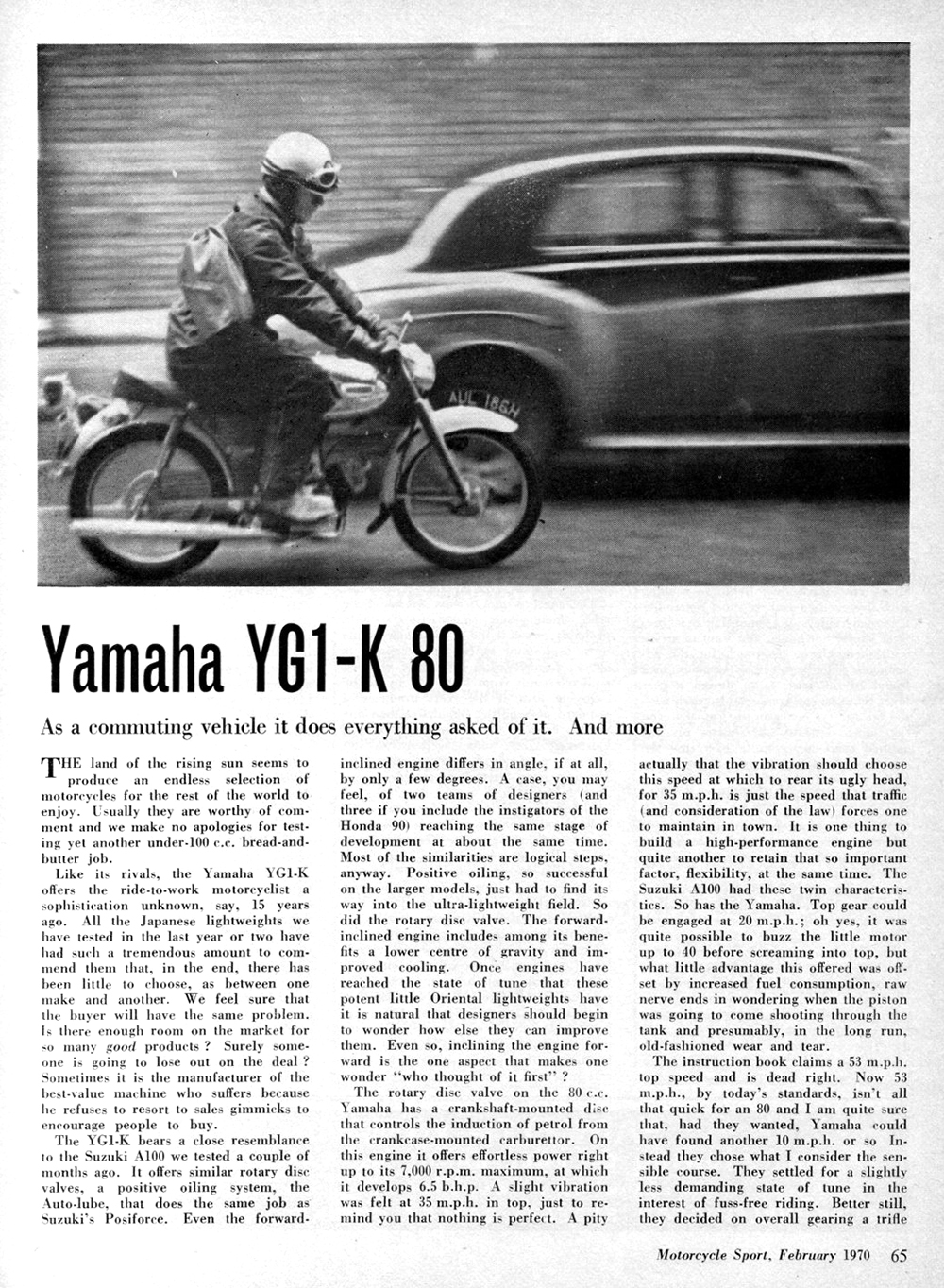 1970 Yamaha YG1-K 80 road test 1.jpg