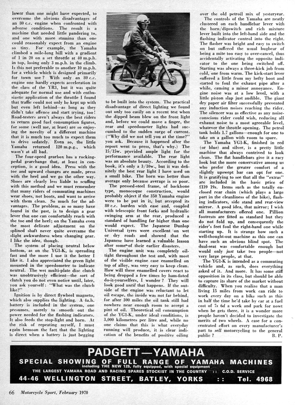 1970 Yamaha YG1-K 80 road test 2.jpg